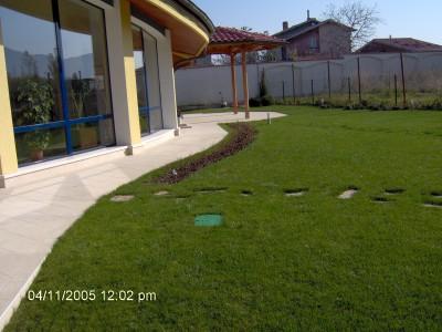 тревна площ с райграс
