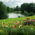 Парк с езеро